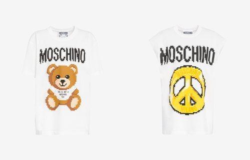 Camisetas oso peluche y símbolo de la paz colección Moschino x The Sims