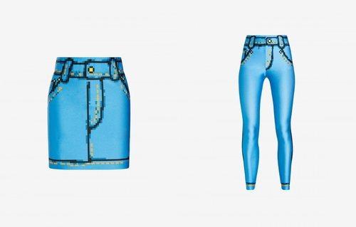 Falda y legging ajustados colección Moschino x The Sims