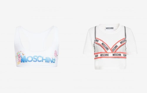 Tops estampados colección Moschino x The Sims