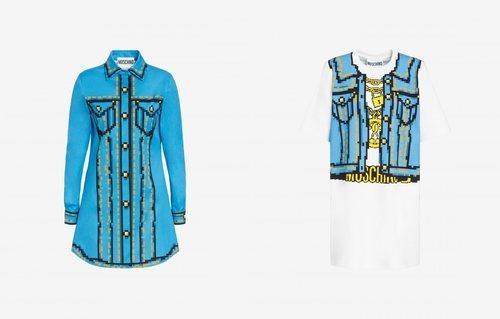 Vestidos estampados colección Moschino x The Sims
