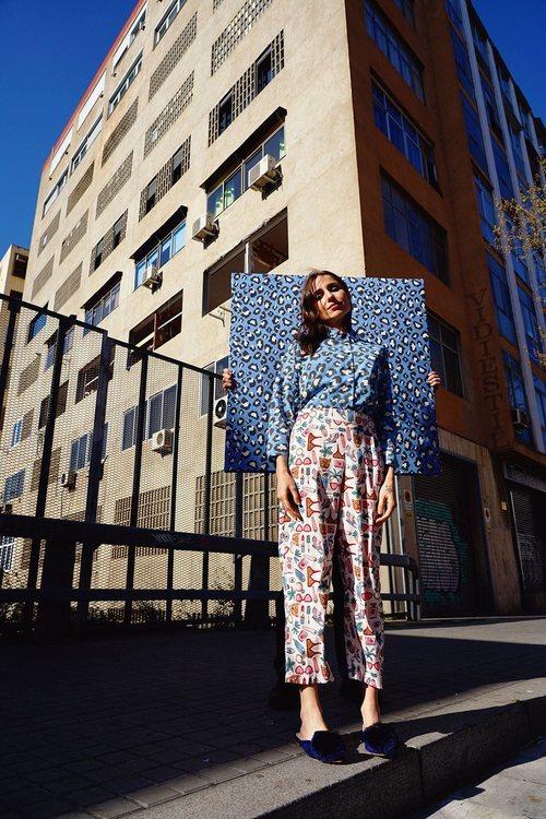 Zahara luce blusa animal print de la colección SS19 de Compañía Fantástica