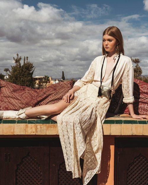 Vestido de encaje de la colección 'Lost in Marrakech' de Philosophy di Lorenzo
