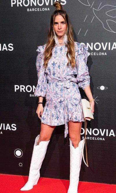 La modelo Clara Mas en el desfile de Pronovias durante la Bridal Week de Barcelona