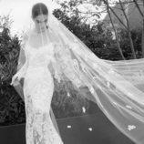 Vestido de corte sirena de la colección nupcial otoño 2019 de Elie Saab