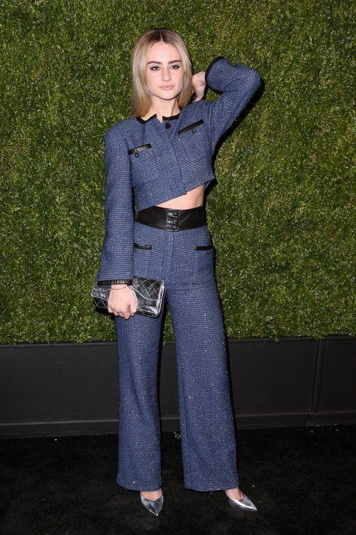 Grace van Patten en la cena de Chanel por el Festival de Cine de Tribeca 2019