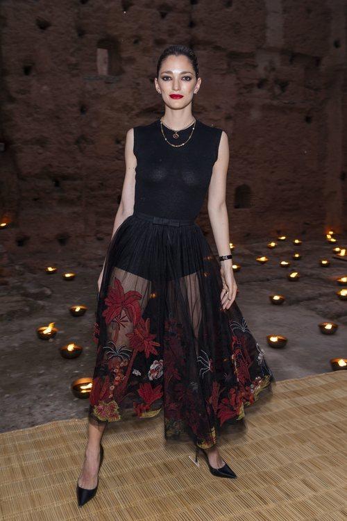 Sofía Sánchez de Betak en el desfile de Dior Cruise 2020 celebrado en Marrakech