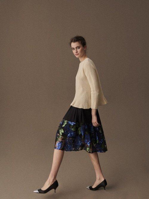 Falda corta de la colección otoño/invierno 2019 de Delpozo
