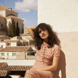 Blusa Mykonos de la colección primavera/verano 2019 de Amlul, firma de Gala González