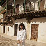 Chaqueta Ibiza y pantalones Deia de Amlul, temporada SS19, firma de Gala González