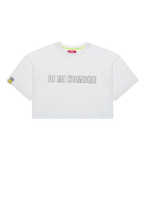Crop top con mensaje 'Di mi nombre' de la colección Pull&Bear by Rosalía