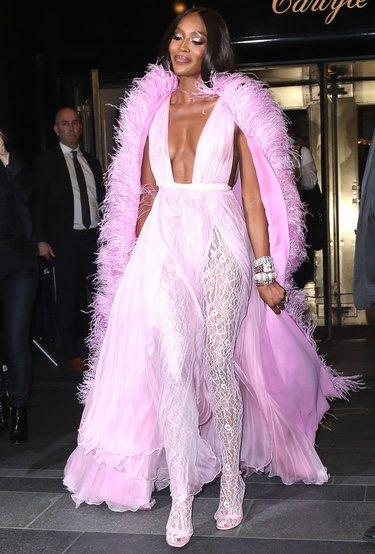 Naomi Campbell en la Gala MET 2019 con un vestido de Valentino