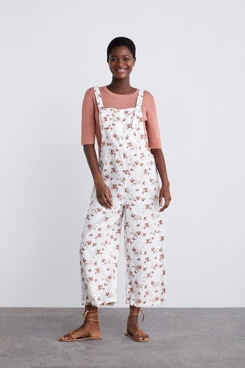 Mono de lino de la colección premamá primavera 2019 de Zara