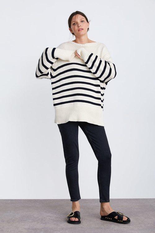 Jersey de rayas marineras de la colección premamá primavera 2019 de Zara