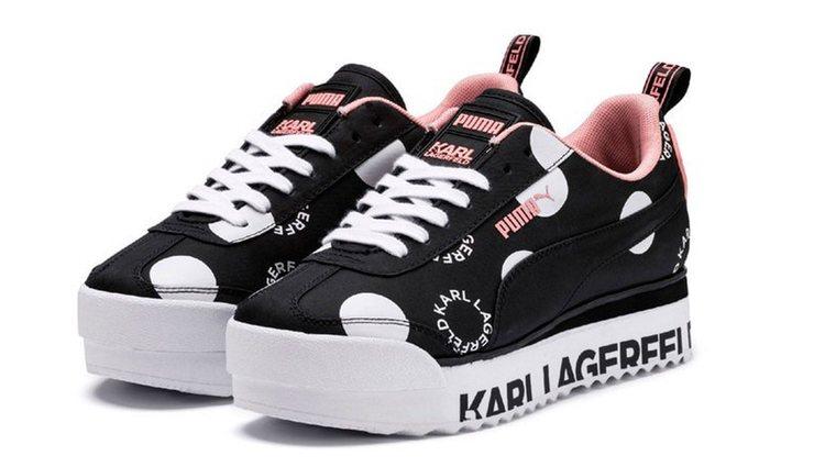 Deportivas para mujer de Puma x Karl Lagerfeld de la colección cápsula en homenaje a Karl Lagerfeld