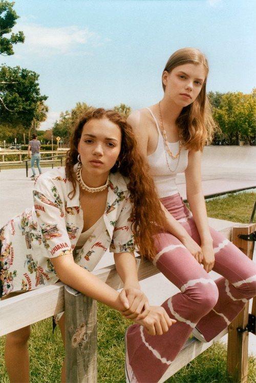 Mallas tie dye de la colección 'BSK Teen' de Bershka
