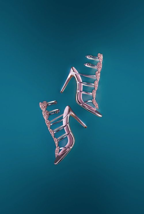 Sandalias de tiras con brillos de Giambattista Valli x H&M