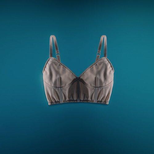 Sujetador sin aros en color nude de Giambattista Valli x H&M