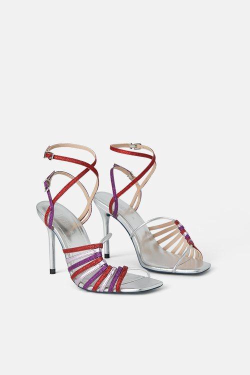 Sandalias de tacón de la colección Blue Collection de Zara 2019