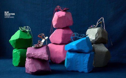Conjunto de sandalias de la colección Blue Collection de Zara 2019