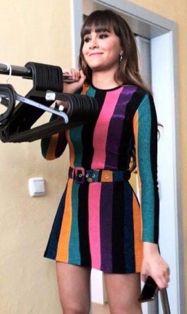 Aitana con vestido de María Escoté