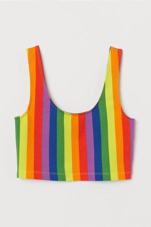 Top multicolor de la colección 'Love for All' de H&M