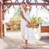 Vestido largo en color blanco con estampado de lentejuelas de la nueva colección 'Ibiza Zen' de Hug&Clau
