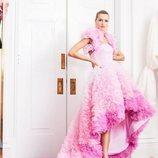 Vestido rosa de la colección pre-fall 2019 de Christian Siriano