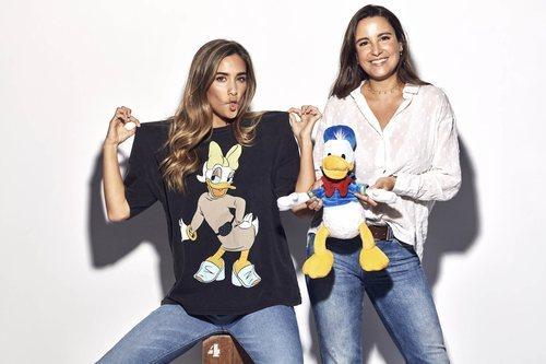 María y Marta Pombo en el homenaje solidario al Pato Donald por su 85 aniversario