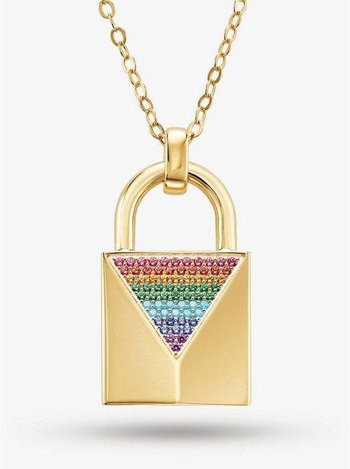 Collar en forma de candado para la colección Pride 2019 de Michael Kors