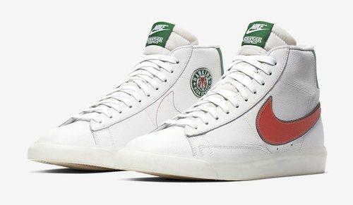 Modelo Blazer en blanco inspirado en Stranger Things para la nueva colección de Nike