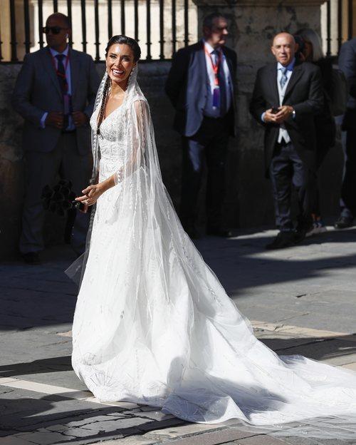 Pilar Rubio con un vestido de Zuhair Murad en día de su boda con Sergio Ramos