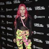 Mery Racauchi con un look estridente y con poco glamour en la presentación de 'Mentir y robar'
