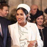 Meghan Markle con un vestido de Victoria Beckham en el Día del Commonwealth