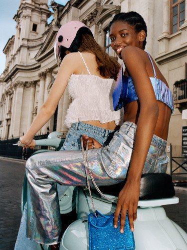 Pantalón metalizado de la colección verano 2019 de Zara TRF