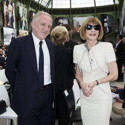 Anna Wintour en el homenaje a Karl Lagerfeld en París