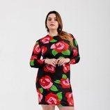 Vestido 'Roses Stretch' de la nueva línea 'curvy' de María Escoté