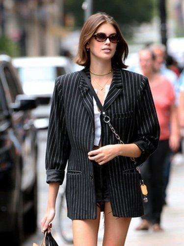 Kaia Gerber de paseo con su hermano por las calles de Nueva York