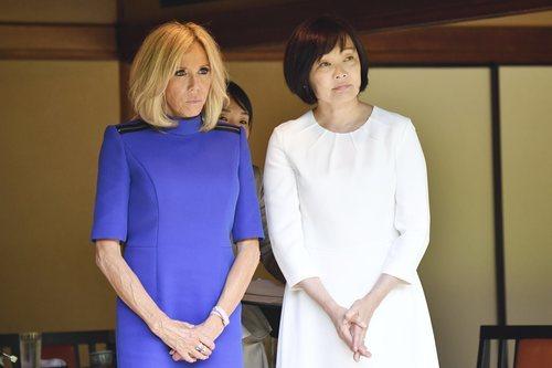 Brigitte Macron en su viaje oficial a Japón