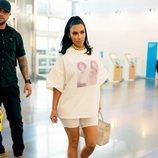 Kim Kardashian fotografiada a su llegada al JFK