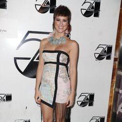 María Jesús Ruiz con un vestido mapa mundi en la 3ª edición de los Premios Orgullo Gay 54