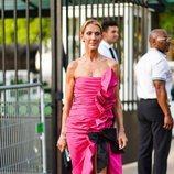 Céline Dion con un vestido de Miu Miu en la Semana de Alta Costura de París