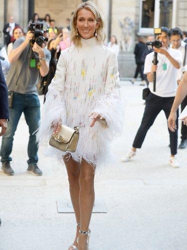 Céline Dion vestida de Valentino en la Semana de Alta Costura de París 2019