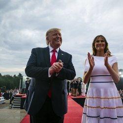 Melania Trump en la celebración del 4 de julio