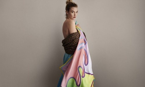 Fular estampado de la colección verano 2019 de Louis Vuitton