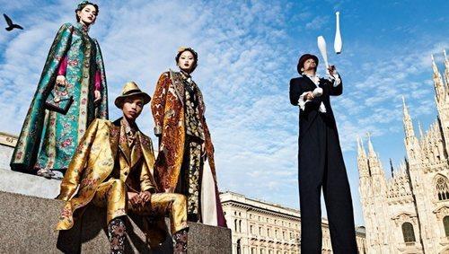 Traje estampado de la colección otoño/invierno 2019 de Dolce&Gabbana