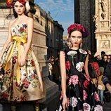 Vestidos estampados de la colección otoño/invierno 2019 de Dolce&Gabbana