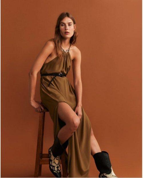 Vestido halter de la colección otoño/invierno 2019 de Mango
