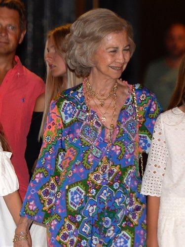 La Reina Sofía en el Ballet ruso con un look cómodo y sencillo