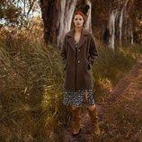 Abrigo marrón chocolate de la colección otoño/invierno 2019 de Lefties