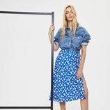 Falda midi de la colección otoño 2019 de Bershka